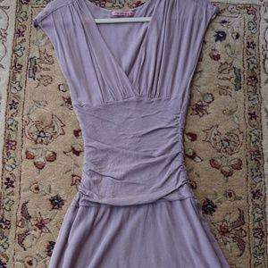 Velvet Stretch V cut midi dress